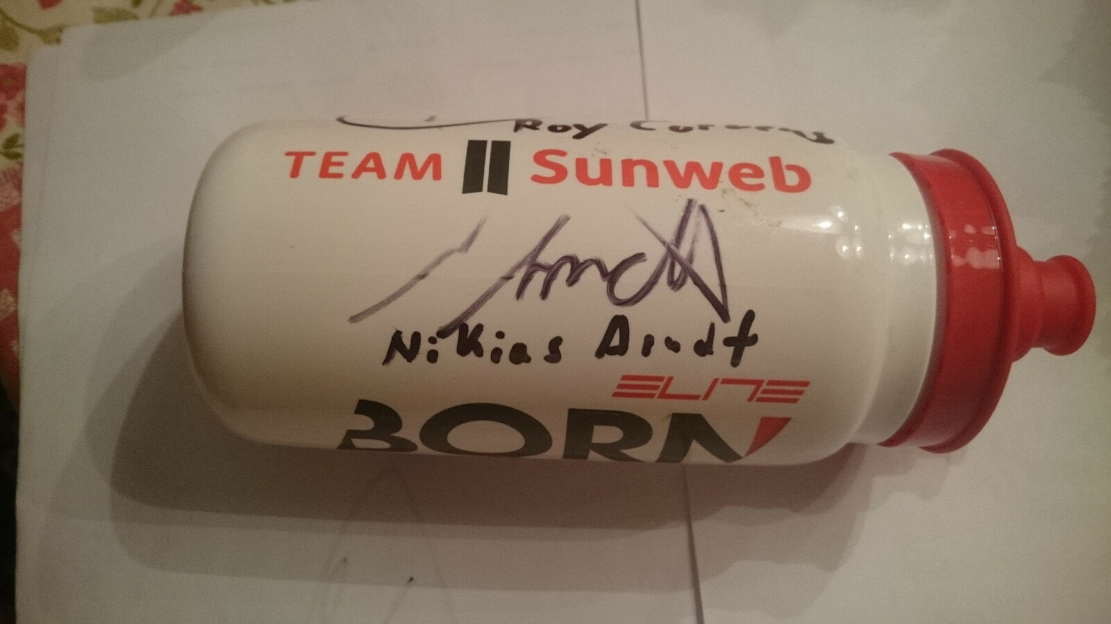 Neu Trinkflasche Team Sunweb Born Elite bio Bidon Botella Bottle Tour 2017 1ATop