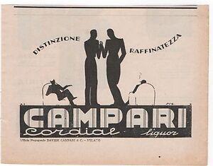 Pubblicita-epoca-1937-CORDIAL-CAMPARI-LIQUOR-advert-werbung-publicite-reklame