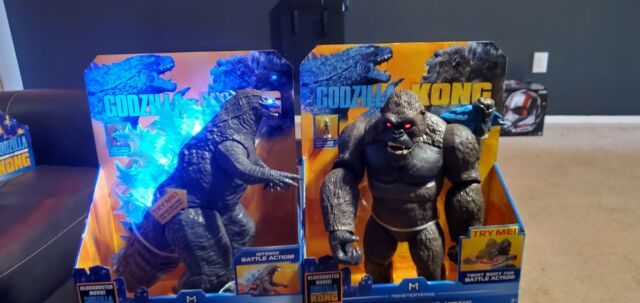 """GODZILLA VS KONG 13"""" Set Mega Kong & Mega Godzilla with Lights & Sounds In Hand"""