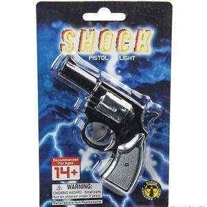 2-SHOCK-GUN-FLASHLIGHT-SHOCKING-CAP-PISTOL-PRANK-GAG