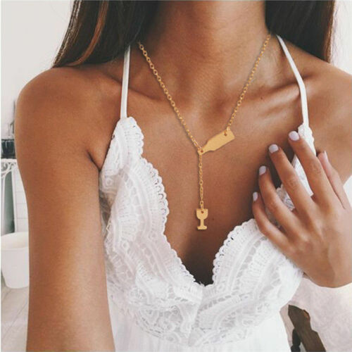 Gold Silver Plated Moon Star Multilayer Pendant Necklace Chain Women Jewelry