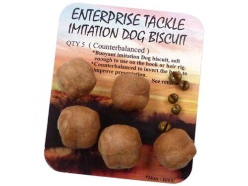 ENTERPRISE TACKLE IMITATION COUNTER BALANCED DOG BISCUITS 5pcs FOR CARP FISHING