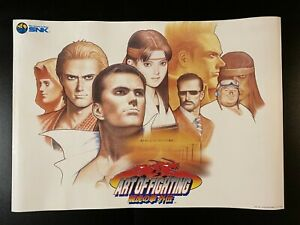 Art Of Fighting 3 Snk Neo Geo Video Game Advertising Poster From Japan Ebay