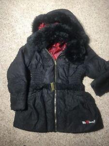 Details about DESIGUAL ABRIG QUILMES WOMEN'S BLACK PAISLEY HOODED COAT JACKET 44 EUR 10 US