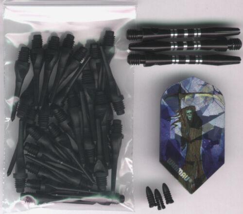 "Black Tips Reaper Flights /& More /""The Grim Reaper/"" Soft Tip Dart Upgrade Kit"