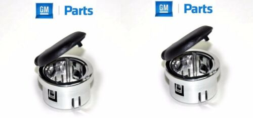 2 New Genuine GM Chrome Power Outlet Retainer Cover