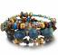 Boho-Multilayer-Natural-Stone-Bead-Tassel-Pendant-Chain-Bracelet-Charm-Women-Set thumbnail 21