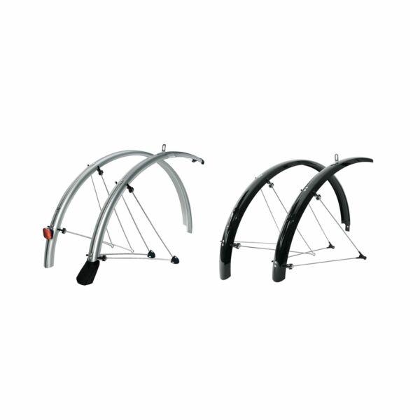 "P50 Silver 28/"" SKS Cycle Bike Chromoplastics Mudguard Set 700C P45"