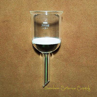 200ml,Glass Buchner Funnel,#3 Sand Coarse Filter,Lab Chemistry Glassware |  eBay