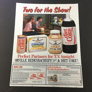 VTG-Retro-1985-Coca-Cola-Diet-Coke-amp-Orville-Redenbacher-039-s-Popcorn-Ad-Coupon