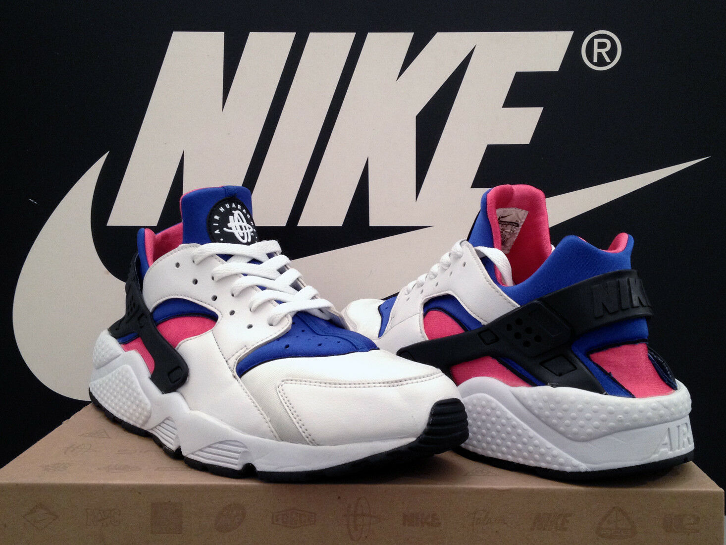 VTG 2013 NIKE AIR HUARACHE UK10 EU45 ROYAL OG 91 MAX 1 90 BW 95 97 98 TN OG RARE