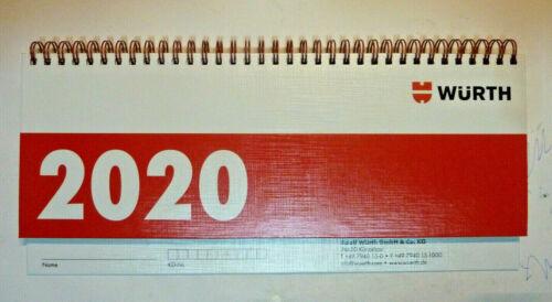 Würth Kalender Tischkalender 2020 NEU Terminkalender Kalender Ringkalender