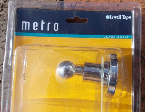 """DORF IRWELL /""""METRO/"""" GLASS SHELF  in CHROME"""