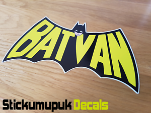 Batvan Batman Racing Van Sticker Decal Funny Sticker VW T5 T4 Transit Iveco