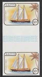 St Kitts 3335-1985 Navires 1,20 $ Imperfectif Gouttière Paire Démonté Menthe-afficher Le Titre D'origine La Qualité D'Abord
