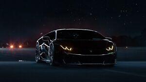 Lamborghini-Huracan-Black-Auto-Car-Art-Silk-Wall-Poster-Print-24x36-034