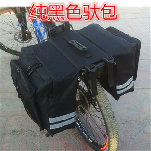 Bicycle Rear Frame Army Camo Double Pannier Bag Bike Rack Bag Travelling Easy 28