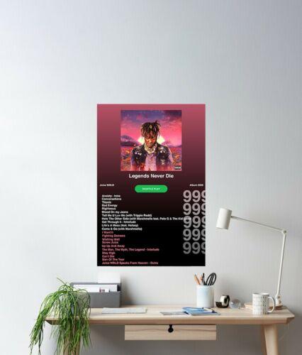 Juice WRLD Legends Never Die Album Premium Music Poster