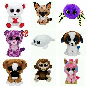 "Ty Beanie Boos 6"" Babie Baby Boo Stuffed Animal Plush Birthday All Occasion Gift"