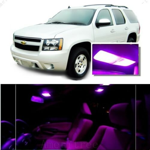 For Chevy Tahoe Suburban 1500 07-14 Pink LED Interior Kit Pink License Light