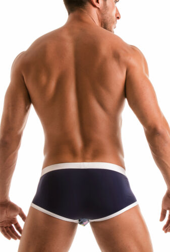 GERONIMO Swimwear Mens Brief Trunks Low Rise Swimming Suit Blue
