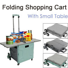155lbs Portable Foldable Utility Cart Strong Loading Ladder Wheel Shopping Gift