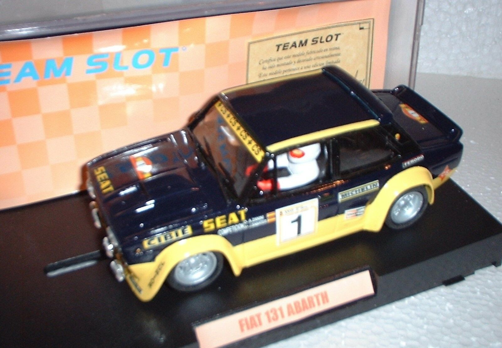 70601 TEAM SLOT FIAT FIAT FIAT 131 ABARTH  1 RALLY DI SPAGNA ANTONIO ZANINI resina af4a8c