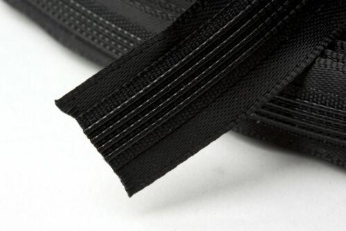 Hemline Satin Couvert Polyester Désossage-Noir-Vendu par Mètre