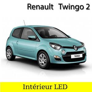 Kit-eclairage-ampoules-a-LED-Blanc-Lumiere-Habitacle-pour-Renault-Twingo-2