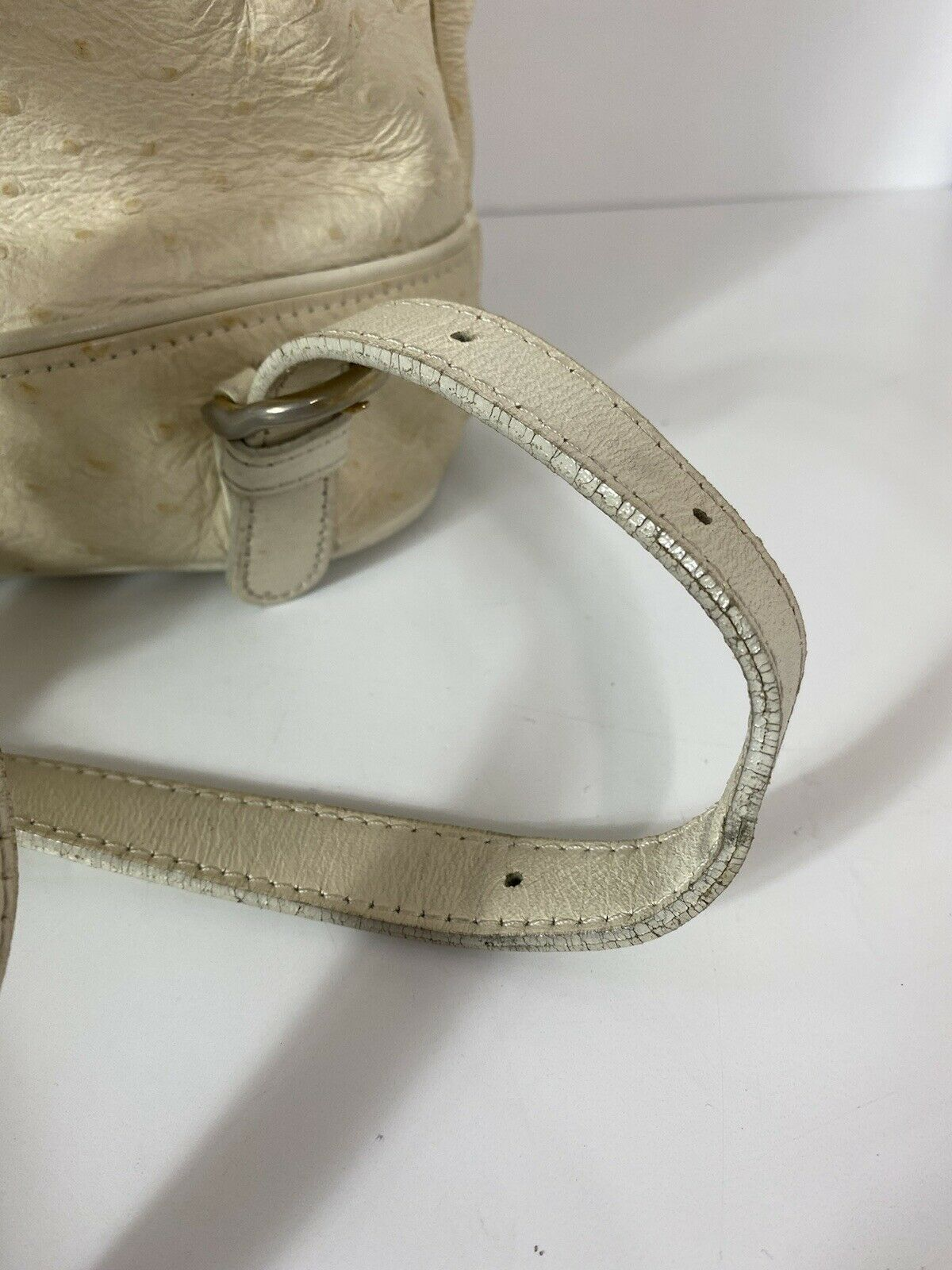 RARE VTG GIANNI VERSACE 90S WHITE OSTRICH BACKPACK - image 9