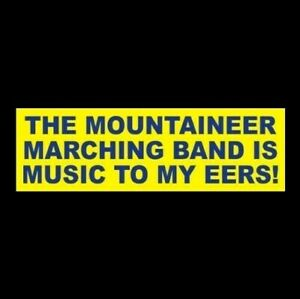 My Mountaineer Card >> Details About The Mountaineer Marching Band Is Music To My Eers West Virginia Wvu Sticker