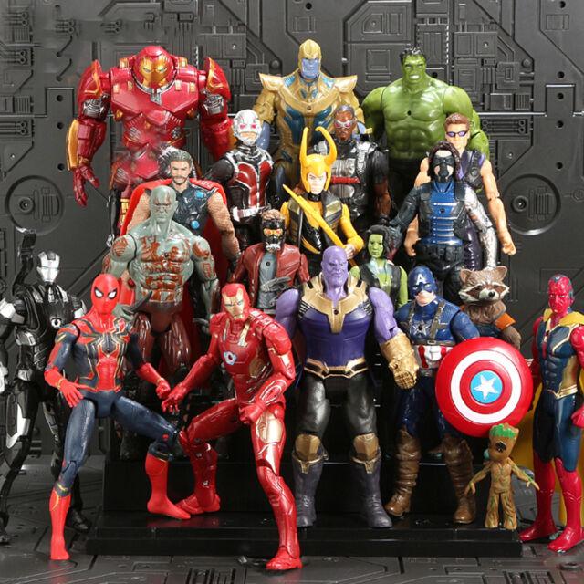 Avengers Infinity War Figuren Thanos Marvel Actionfigur Spielzeug Sammlung 20Stk