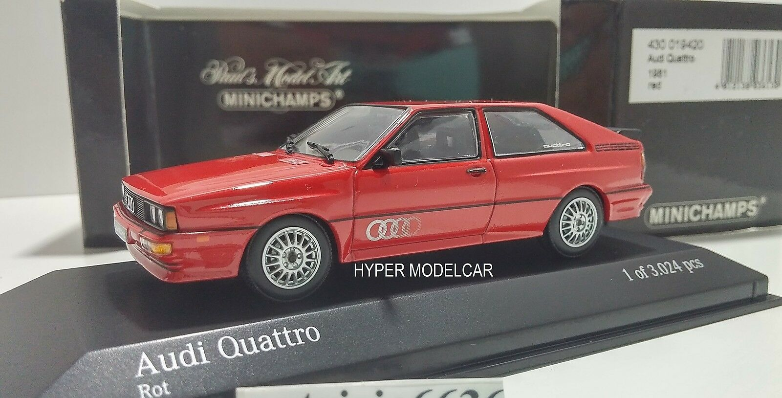 MINICHAMPS    1 43 Audi Quattro 1981 Red Art. 430019420 813586