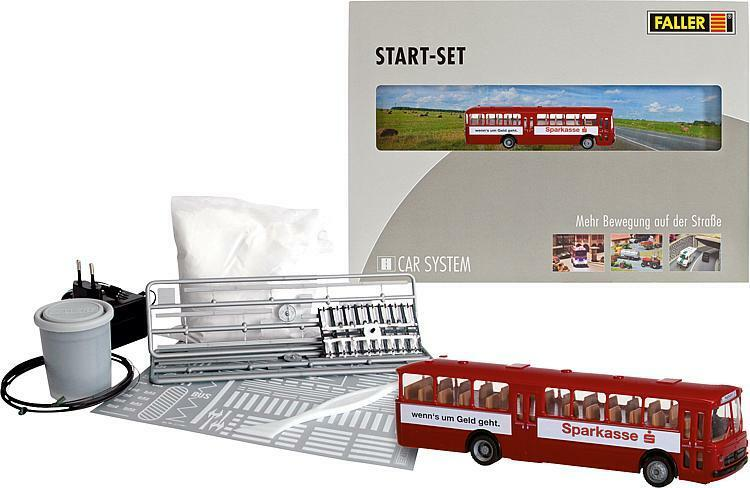 FALLER 161506 Start Set Car System Bus mit mit mit Sparkassenwerbung NEU OVP  | Gute Qualität  00f783