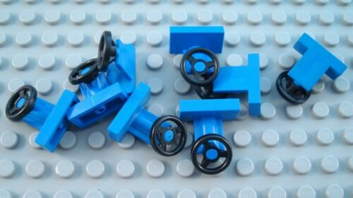 LEGO Lot of 8 Blue Car Truck Vehicle Steering Wheels