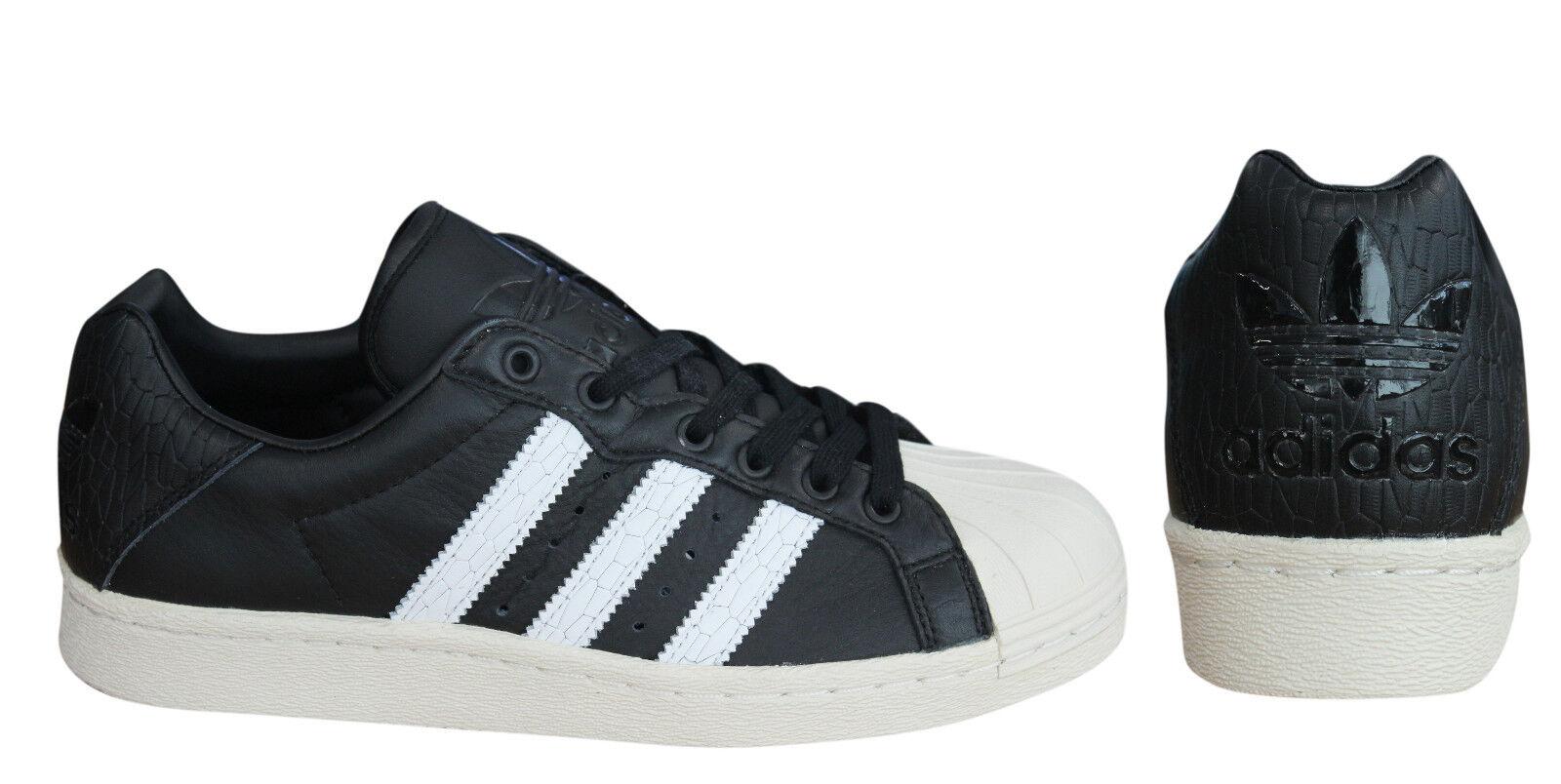 Adidas ultrastar 80 uomini allacciarsi le scarpe di pelle bianca, bianca, pelle i neri bb0172 u14 407718