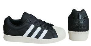 f68c8a5e14d2 Adidas Ultrastar 80s Mens Trainers Lace Up Shoes Black White Leather ...