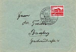III.Reich, Brief, Saarbrücken - Bamberg ! - Deutschland - III.Reich, Brief, Saarbrücken - Bamberg ! - Deutschland