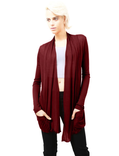 NE PEOPLE Women Light Weight Basic Open Front Cardigan with two pockets  NEWJ53