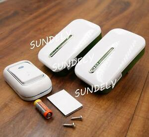 SUNDELY-Twin-Plug-In-Cordless-Digital-Door-Bell-Chime-Wireless-200M-36-Melodies
