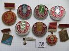10 set lot SOVIET RUSSIAN BADGE PIN medal USSR LENIN VLKSM KOMSOMOL AWARD