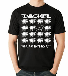 T-Shirt-BLACK-SHEEP-DACKEL-Teckel-Dachshund-Hund-Hunde-Fun-Men-Siviwonder