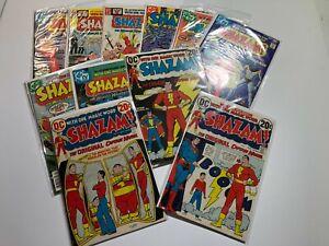 Shazam! 1st App #1 & lot of 11 - 1 3 4 27 29 30-35 DC Comics Bronze Age Books