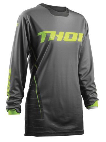 THOR Women/'s Pulse Dashe Jersey Motocross MX Enduro Shirt Maglia Camicia Grigio//Verde