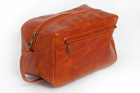 LADYS MAKE-UP BAG NEW LARGE LEATHER TOILETRIES BAG COSMETIC BAG MAKE UP