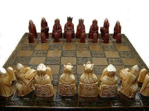 fabulous isle of lewis chess set chessmen game pieces in perfect condition
