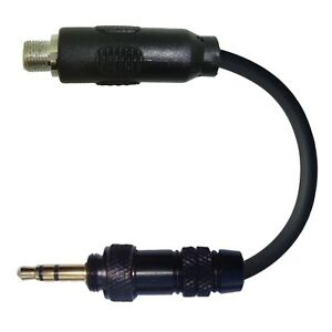 6.35mm Male to 3.5mm Female Plug Connector with 3.5mm Screw Jack Adapter New