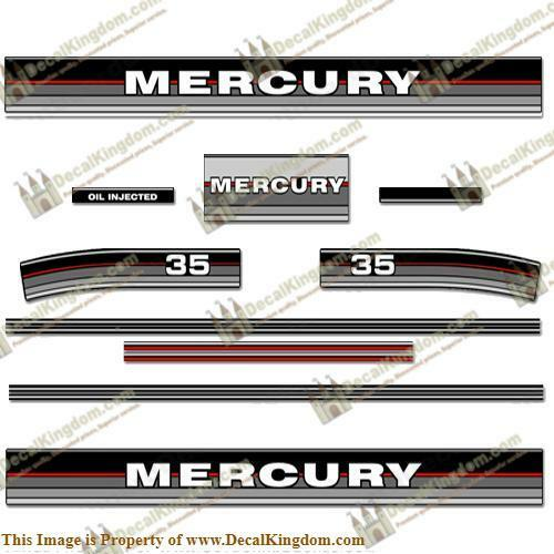Mercury 1986 - 1988 Outboard Decal Kit (Multiple Sizes Available)3M Marine Grade