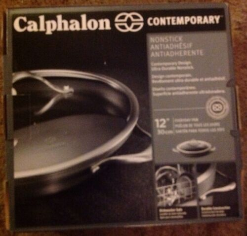 Calphalon Contemporary Nonstick Everyday Pan With Lid Dishwasher Safe New