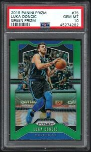 2019-20 Panini Green Prizm #75 Luka Doncic Dallas Mavericks PSA 10 GEM MINT